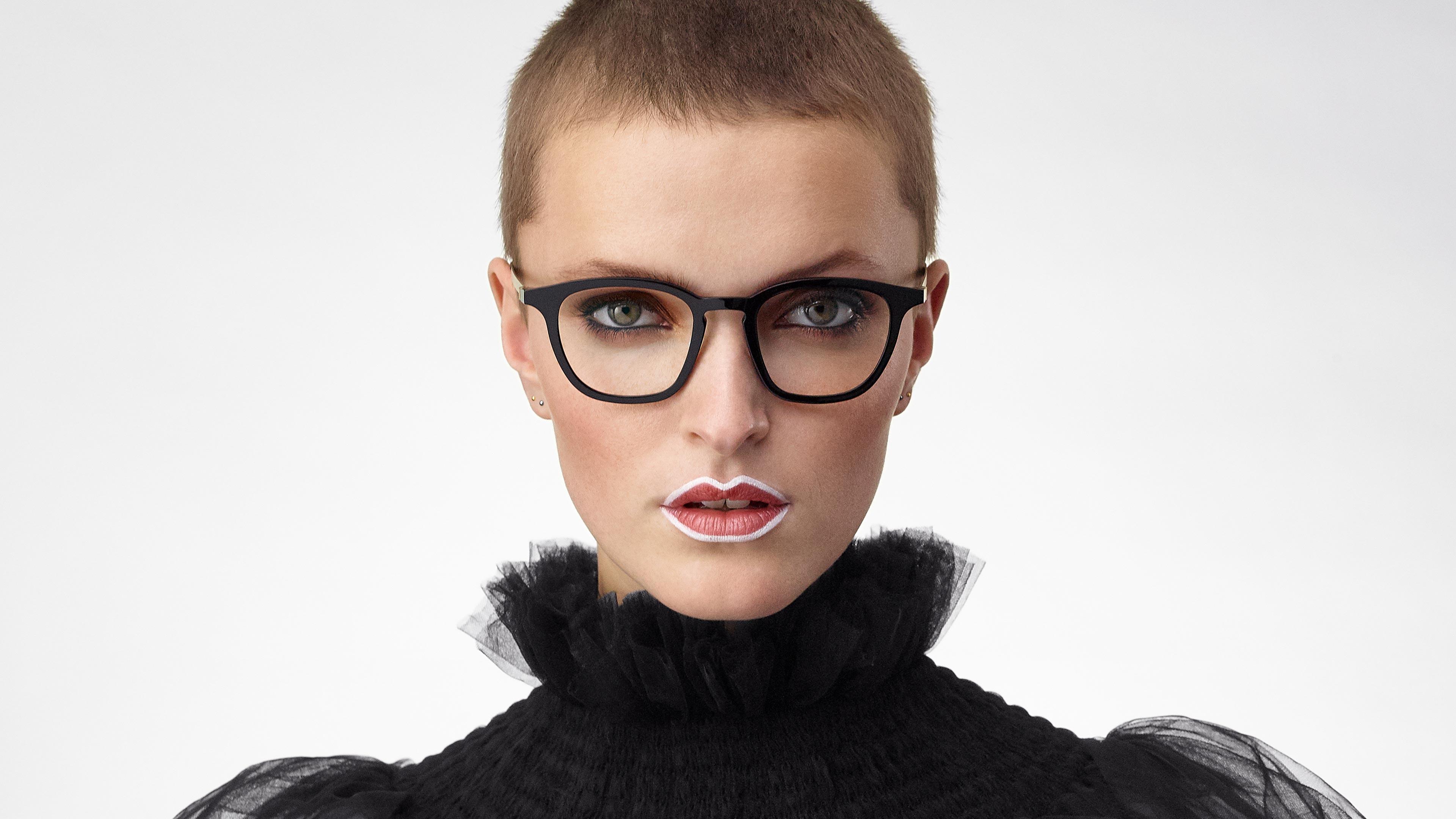 LINDBERG acetanium Model 1047 black and gold women's glasses made of acetate and titanium