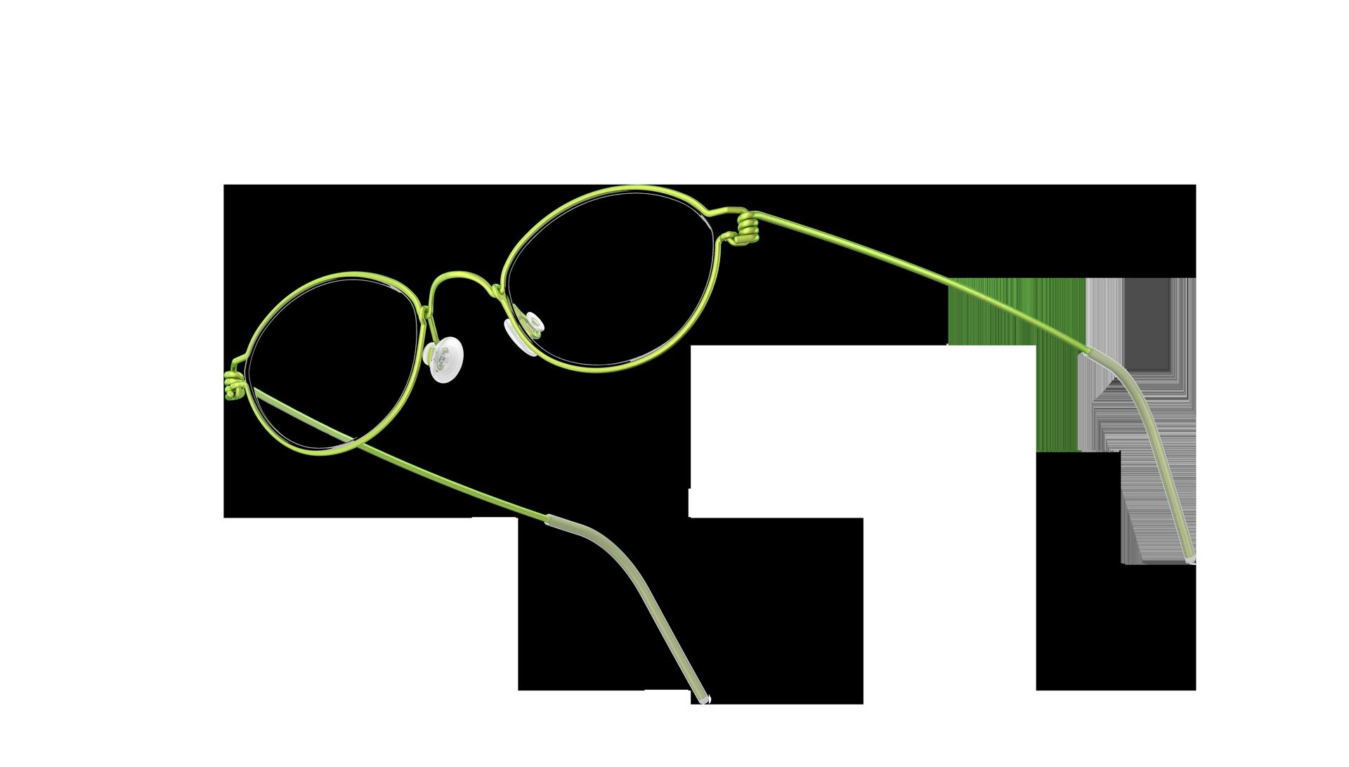 LINDBERG Kid/teen Occhiali ovali Air Titanium Rim modello Fox colore verde 95